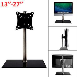 "Single Computer Monitor Arm Mount Desks Stand 13-27""Screen LED TV Bracket Mounts"