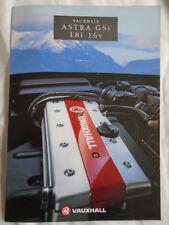 Vauxhall Astra GSi 1.8i 16v brochure May 1993