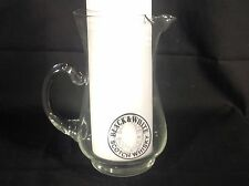 "BLACK & WHITE SCOTCH WHISKY Vintage BARWARE  Advertising GLASS PITCHER Pub 7.5"""