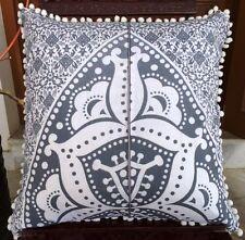 "Set Of 2 Pcs Indian Cushion Cover 20X20"" Large Handmade Sofa Throw Pillow Case"