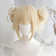 Chic My Boku no Hero Academia Himiko Toga Light Blonde Ponytail Cosplay Wig+Caps
