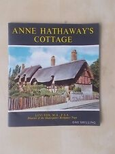 VINTAGE 1960's PICTORIAL GUIDE - ANNE HATHAWAY'S COTTAGE