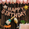 Rose Gold Number Balloon Happy Birthday Balloon Banner Birthday Party Decoration