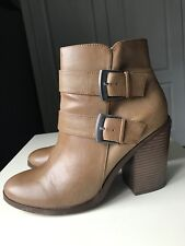 Dorothy Perkins Designer Brown Women Ankle High Heel Shoe Boot Size 7 40