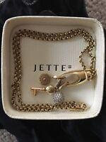 TIPP: JETTE JOOP SILBER Collierkette mit 3 Charms Silber, Goldplattiert 925er