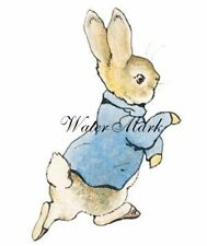 New listing Beatrix Potter Peter Rabbit On The Move*Two 5X7 Quilt*Art*Fabric Blocks