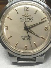 VINTAGE 60'S MOVADO KINGMATIC SUB-SEA AUTOMATIC 28 Jewel W/ Original Band! C.538