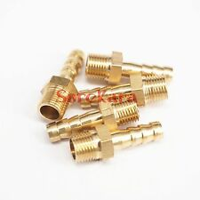 "LOT 5 Hose Barb I/D 6mm x 1/8"" BSP Male Brass coupler Splicer Pipe fitting"