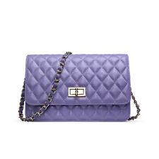 Korea Sheepskin Handbag Genuine Lambskin Leather Women Cossbody Bag purple