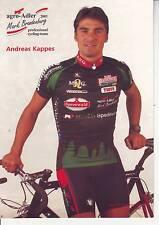 CYCLISME  carte cycliste ANDREAS KAPPES équipe  AGRO ADLER 2001
