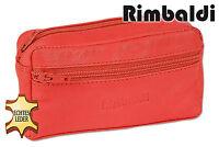 Rimbaldi® Große Leder Schlüsseltasche mit Extrafach in Rot