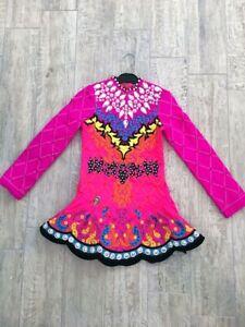 Taylor Dresses Irish Dance Solo Dress - Hot Pink, Yellow, Black - U10, U11, U12
