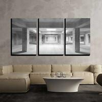 "Wall26 Concrete Industrial Interior - Canvas Art Wall Decor - 24""x36""x3 Panels"