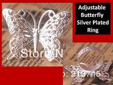 Beautiful Butterfly Adjustable Silver Plated Ring Gift for Her