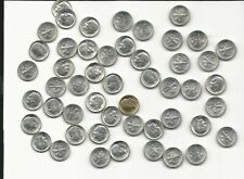 United States Lot Of (50) Roosevelt Dimes 10c 90% Silver 1964