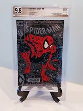 Spider-Man #1 PGX 9.8 SILVER EDITION Signed Todd McFarlane (Not CGC)  1990