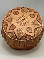 Handmade Moroccan POUF Genuine Leather Pouffe Ottoman Footstool