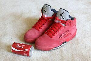 "Nike Air Jordan 5 Retro ""Red Suede"" size 8 used"
