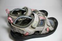 Footjoy Women's Greenjoys 48470 Golf Sandal Grey/Pink.  Size 11 M