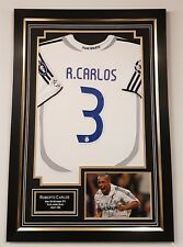 Rare Roberto Carlos Signed Photo Picture and Shirt Autograph Display