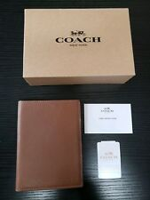 Authentic NWT COACH Leather Passport Case/Holder, Brown