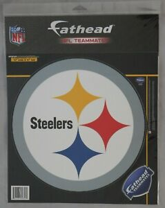 Pittsburgh Steelers FATHEAD  11x11 REMOVABLE WALL DECAL Pack New