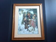 Arthur J Elsley Hold Up/ Here He Comes Print Framed Double Matted 1901