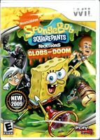 SpongeBob SquarePants Featuring Nicktoons Globs of Doom Nintendo Wii New