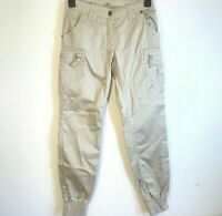 Women's UK Size 8 Aeronautica Militaire Italy Beige Trousers Jeans Chinos