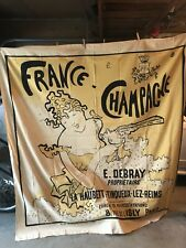 FRENCH FRANCE CHAMPAGNE E. DEBRAY WOMAN COUPE GLASS BUBBLES SHOWER CURTAIN