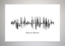 Maroon 5 - Memories - Sound Wave Print Poster Art