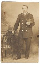 RPPC Portrait MAN Uniform Policeman Police Service Representative LAPD Postcard