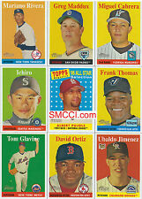 2007 Topps Heritage Baseball Complete Mint Basic 385 Card Set with 1958 Design