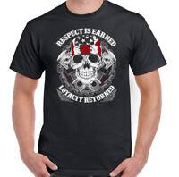 Respect Is Earned Mens Biker T-Shirt Motorcycle Motorbike Bike Indian