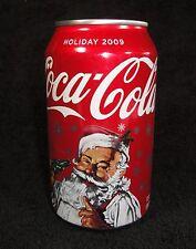 Coca Cola Can - 2009 Santa Holiday 12oz Can - EMPTY - Coke