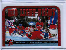 14/15 FLEER ULTRA RED LIGHT VIEWS RLV-10 NEW YORK RANGERS VS MONTREAL CANADIENS