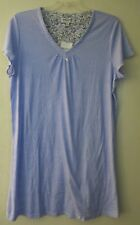 Karen Neuburger Encore Blue Dot Short Sleeve Nightgown Gown Nightshirt M/L/XL