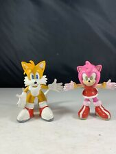 Sonic Adventure Toy Island Tails & Amy Rose Bendable Rubber Figures 2000
