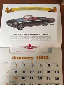 Automemories Calendar 1962 Reproduction