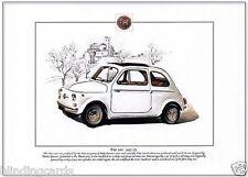 FIAT 500 - (1957-75) - Fine Art Print - A4 size picture Nuova 500 small city car