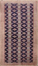 4x6 Traditional Geometric Bokhara Oriental Area Rug Hand-knotted Kitchen Carpet