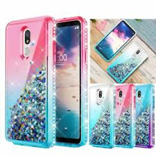 For LG Stylo 4/5 Plus Bling Liquid Quicksand Case Sparkle Diamond TPU Cover