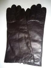 Ladies Cashmere Lined Genuine Leather Gloves,Large Brown