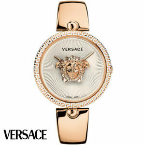 Versace VCO110017 Palazzo Empire white rose gold Stainl. Steel Women's Watch NEW