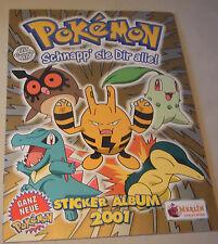 Pokemon Sammel Sticker Album von Merlin 2001