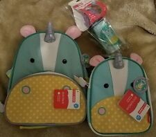 Skip Hop Eureka Unicorn 3-pc Set - Bottle, Backpack & Zoo Lunchie Insulated Bag