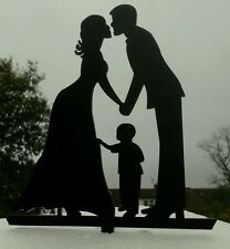 La nostra silhouette mozzafiato sposa e sposo e Piccolino MATRIMONIO DECORAZIONI PER TORTA