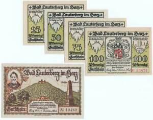 """BAD LAUTERBERG im HARZ 1921: """"Historische Ansichten"""", Notgeld-SERIE"""