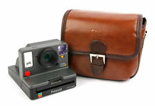 Small Brown PU Leather Satchel Carry Bag for Polaroid OneStep 2 Camera