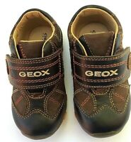 Geox baby boy Boom US 4.5 brown leather athletic sturdy shoe
